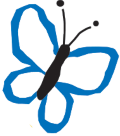 butterfly-blue - white