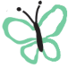 butterfly-teal - white